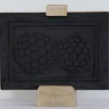 Xilografia 01, 2012 - MDF, Feltro Legno di Samba, Patina, 21x15x4 cm