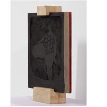 Xilografia 02, 2012 - MDF, Feltro Legno di Samba, Patina, 21x15x4 cm